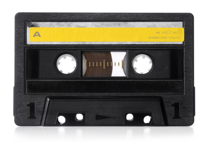 Cassette Tape from the 80s