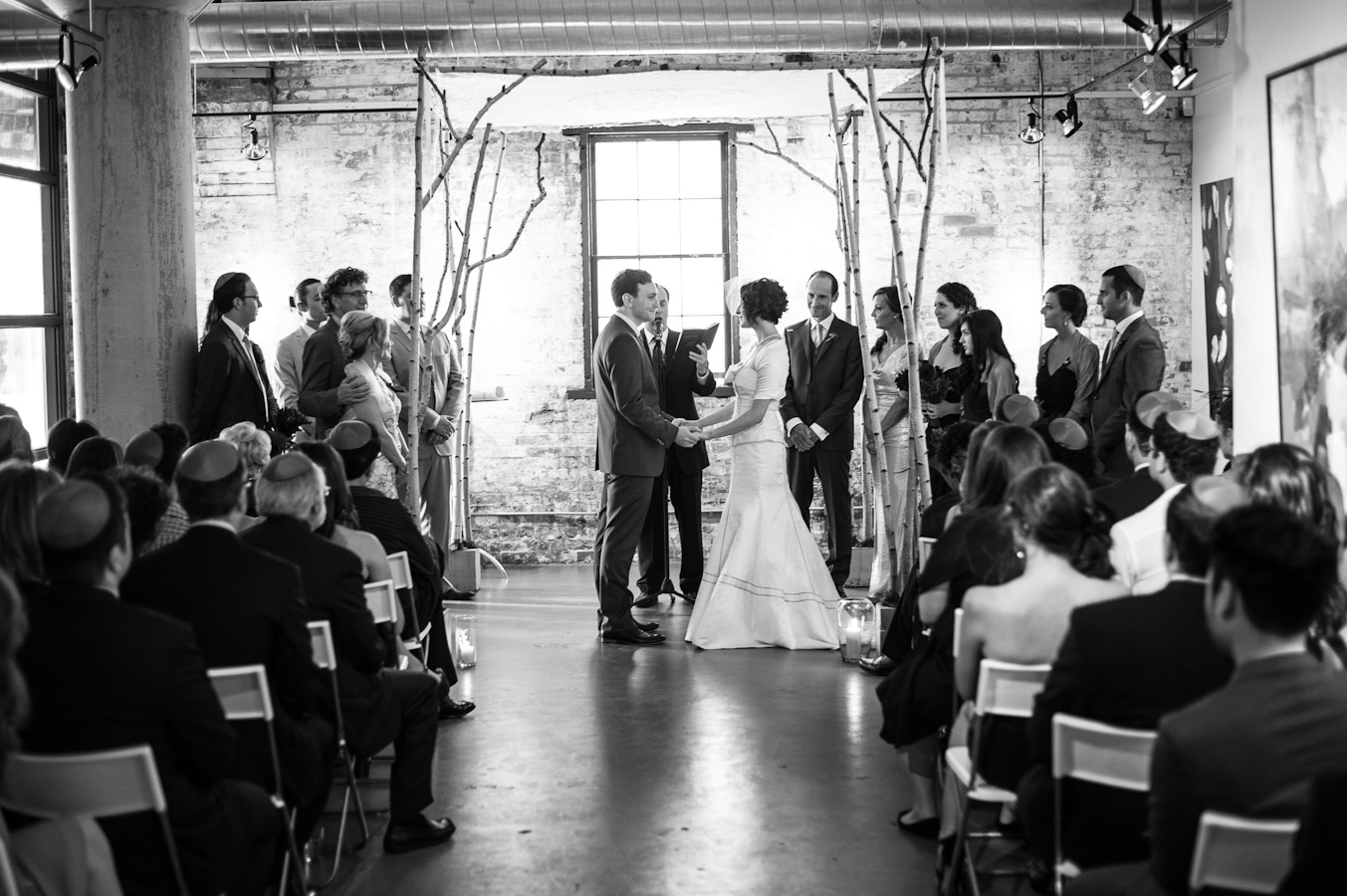 Or and Ryan Wedding Ceremony at Arta Gallery, Distillery District Toronto
