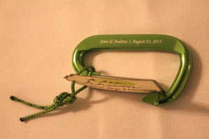 Personalized Wedding Carabiner Table Cards