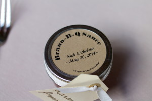 Homemade BBQ sauce Wedding Favour