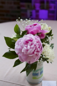 Pink and White Wedding Flower Centerpiece