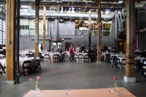 Steam Whistle Brewery Wedding Sweetheart table view